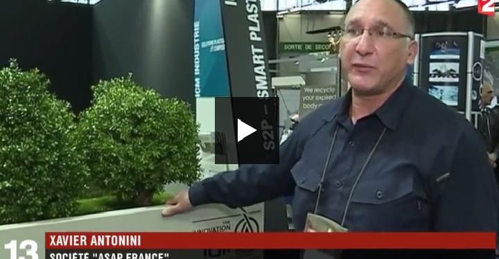 [vidéo] Barrière anti-terro (voiture bélier) au salon Milipol 2017 – JT France 2